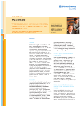 MasterCard - Pitney Bowes Software