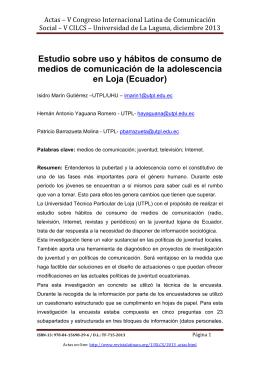 Estudio sobre uso y hábitos de consumo de medios de