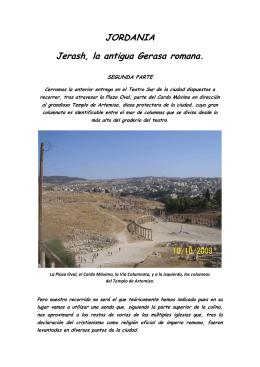 JORDANIA Jerash, la antigua Gerasa romana.