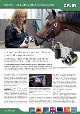 La imagen térmica ayuda a los jinetes olímpicos y sus caballos a