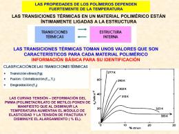TEMPERATURA DE TRANSICION VITREA LA TEMPERATURA DE