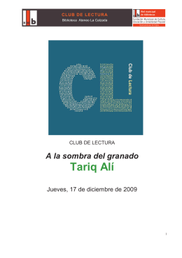 1. tariq alí - Club de Lectura Biblioteca La Calzada