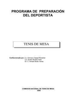 Tenis de Mesa - Sitio Oficial del INDER