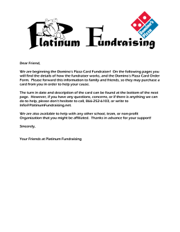 The Domino`s Fundraiser! - Southwest Sunset Volleyball Club