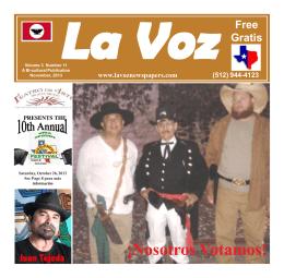 La Voz de Guadalupe County November