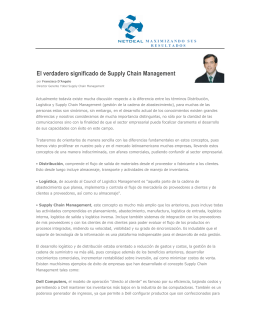 El verdadero significado de Supply Chain Management