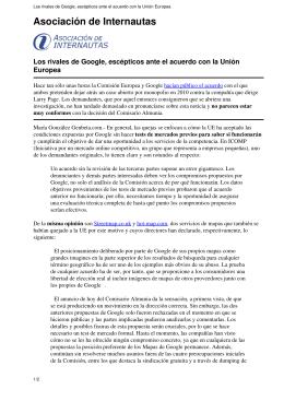 Los rivales de Google, escépticos ante el acuerdo con la Unión