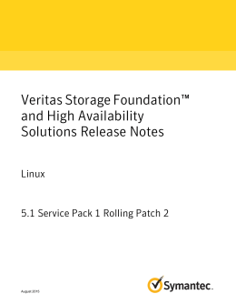 Veritas Storage Foundation™ and High - SORT