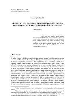 Summary in Spanish - Linguistic Society of America