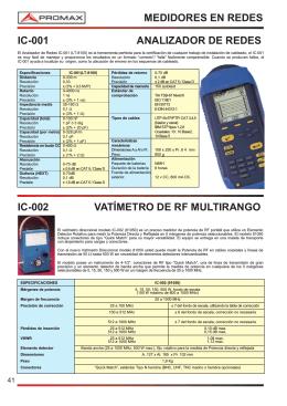 Vatímetro de RF Multirango - IC-002