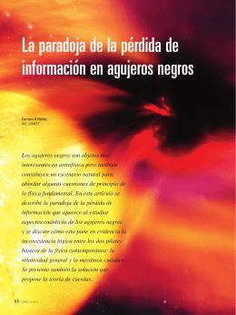 La paradoja de la pérdida de información en agujeros negros
