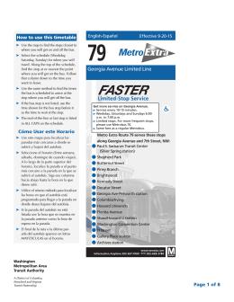 79 - Washington Metropolitan Area Transit Authority