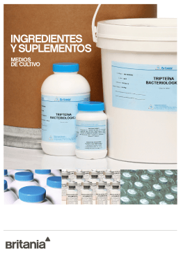 INGREDIENTES Y SUPLEMENTOS
