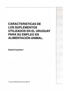 St 110. Características de los suplementos utilizados en el