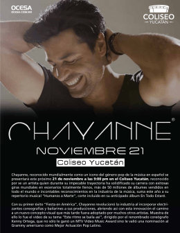 press kit CHAYANNE
