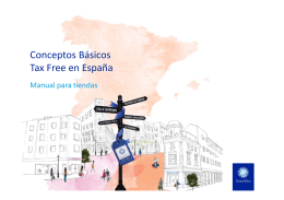 Conceptos Básicos Tax Free en España - Local Services