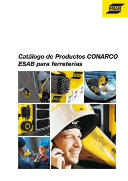 Catálogo de Productos CONARCO ESAB para ferreterías