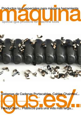 Sistemas de Cadenas Portacables. Cables Chainflex