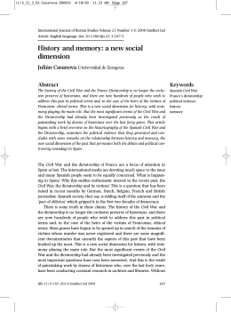 History and memory: a new social dimension
