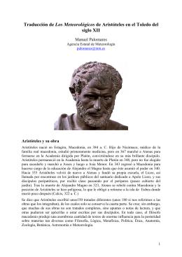 Traducción de Los Meteorológicos de Aristóteles en