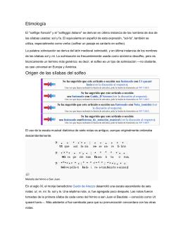 Etimología Origen de las sílabas del solfeo