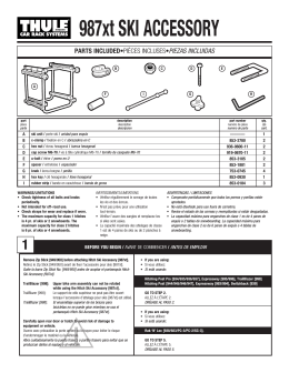 thule 987xt ski snowboard rack installation instruction manual