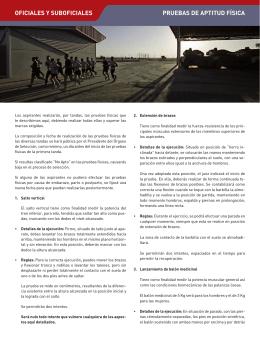 PRUEBAS DE APTITUD FÍSICA OFICIALES Y SUBOFICIALES