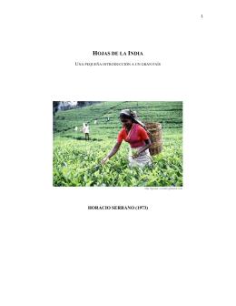 HOJAS DE LA INDIA - Historia y Cultura