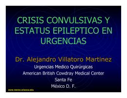 evaluacion y tratamiento del estatus epileptico en urgencias.