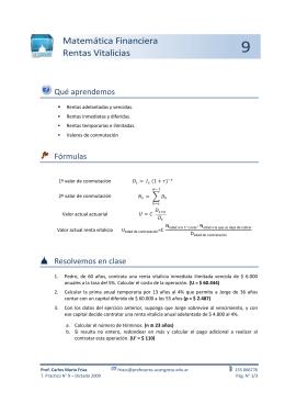 Matemática Financiera Rentas Vitalicias