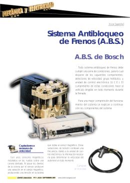 Sistema Antibloqueo de Frenos (A.B.S.)