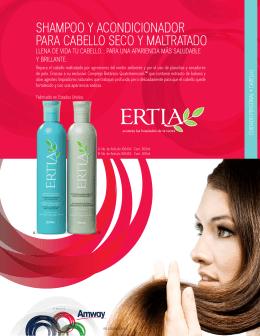 shampoo y acondicionador para cabello seco y maltratado ertia