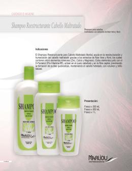 Shampoo Reestructurante Cabello Maltratado