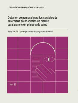 Dotacion de personal para los servicios de enfermeria
