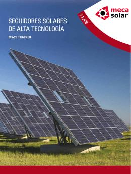 SeguidoreS SolareS de alta tecnología