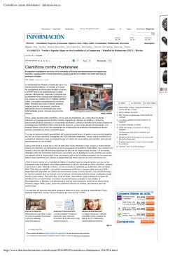 Científicos contra charlatanes - Informacion.es