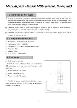 Manual para Sensor M&B (viento, lluvia, luz)