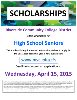 High School Seniors Wednesday, April 15, 2015