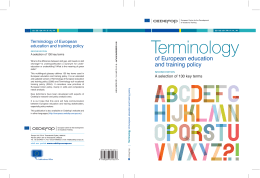 Terminology of European education and training - Cedefop