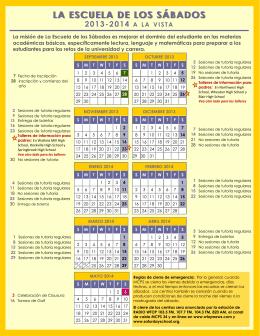Calendario para padres: 2013-2014
