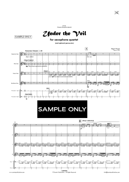 Under The Veil - Sax Quartet - sample