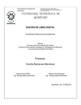 UNIVERSIDAD TECNOLÓGICA DE QUERÉTARO