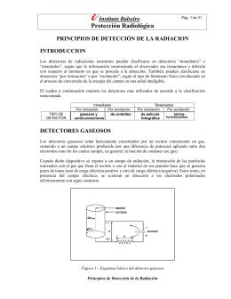 Protección Radiológica - Laboratorio: Física de las radiaciones
