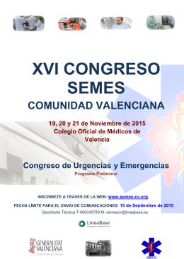 Programa XVI Congreso SEMESCV 2015 10.07.15
