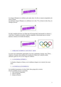 Mascotas, símbolos olímpicos