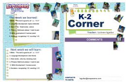K-2 Weekly Newsletter