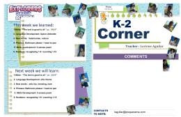 K-2 Weekly Newsletter
