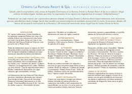 Dreams La Romana Resort & Spa – REPÚBLICA DOMINICANA