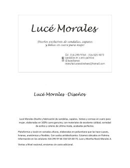 Lucé Morales-Diseño y fabricación de sandalias, zapatos, bolsos y