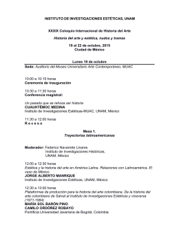 Programa - Instituto de Investigaciones Estéticas